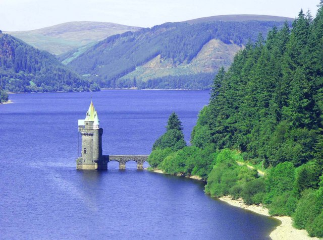 Tower on Lake Vyrnwy (Llyn Efyrnwy)