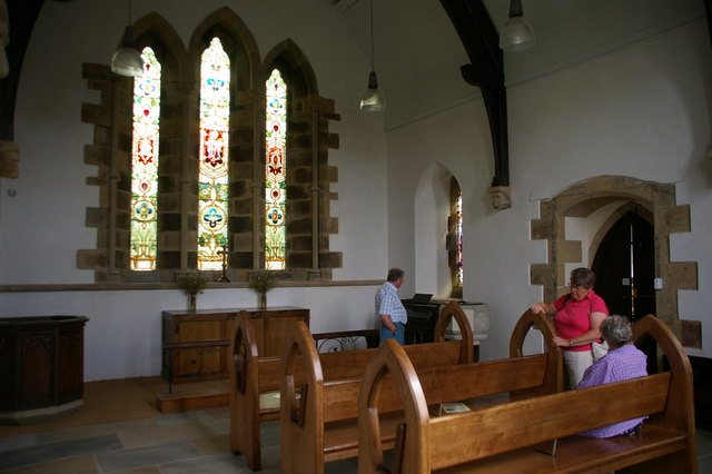 Interior of St James Church, Stocks-in-Bowland