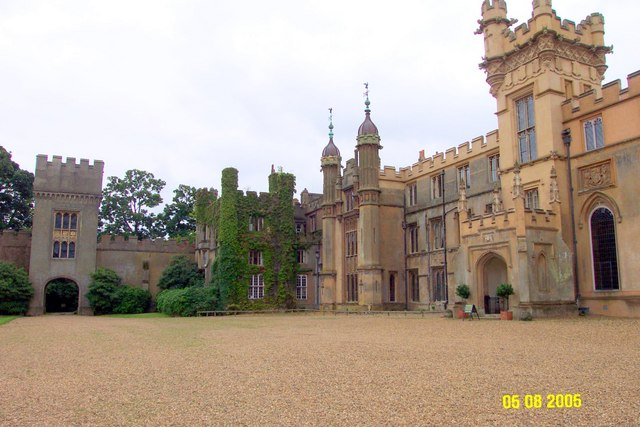 Knebworth House from the rear