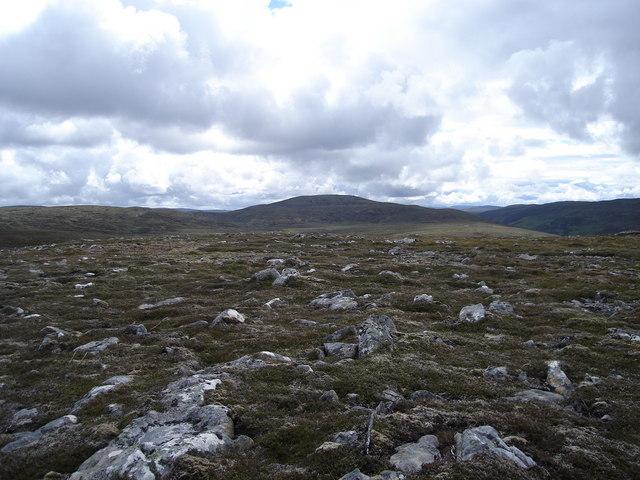 Looking west-southwest from Carn Na Saobhaidh towards Burrach Mor