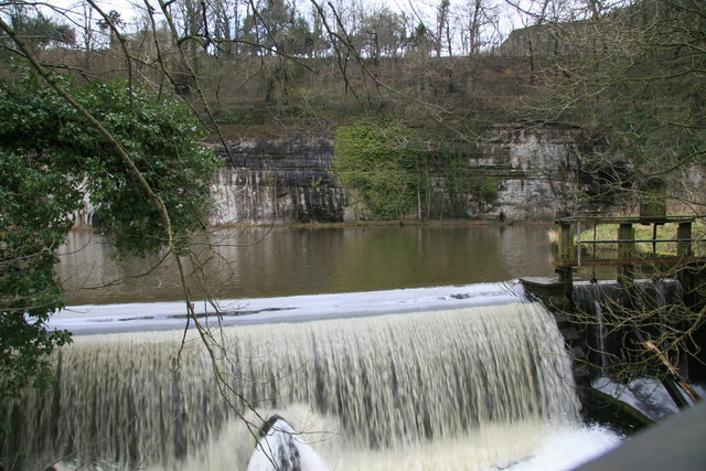 Weir by Cressbrook Mill