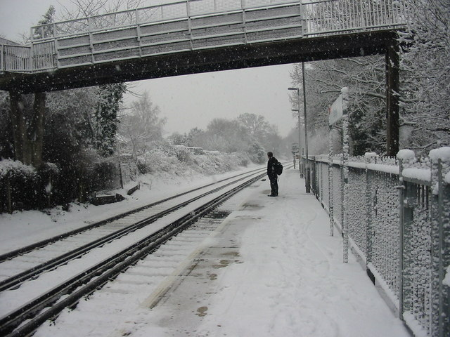 Footbridge at Earley Station