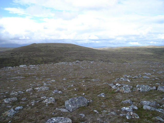 Looking northeast towards Burrach Mor from 801m top