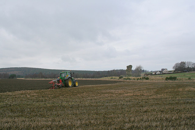 Ploughing a field by Dallas.