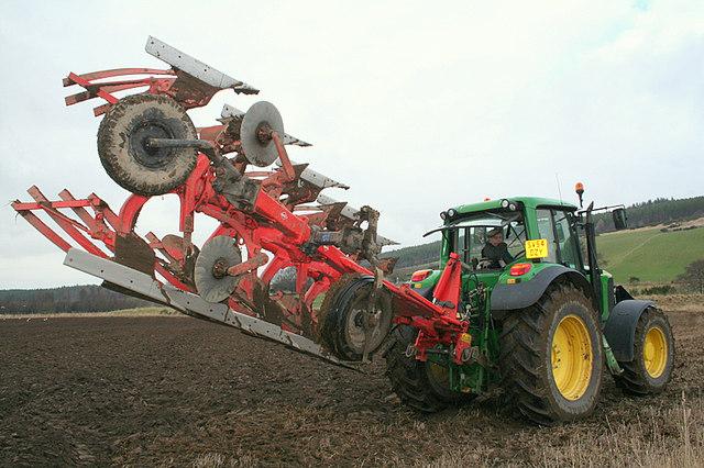 A five  furrow plough by Dallas.