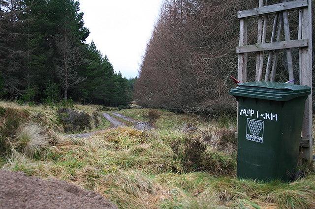The lane to Tapp Farm.