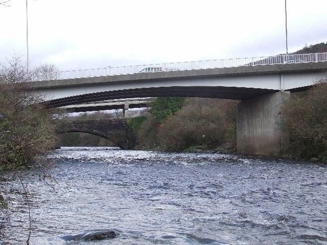 Three bridges at Pontardawe
