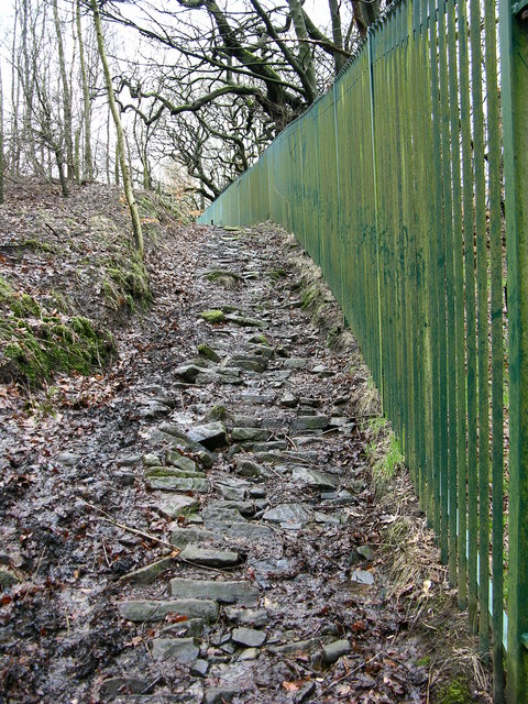 Old Road behind mill at Cliffe