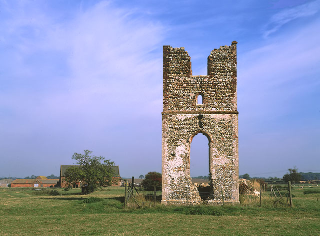 The ruins of Godwick Church