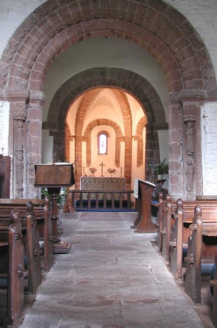 St Mary & St David, Kilpeck, Herefordshire - East end