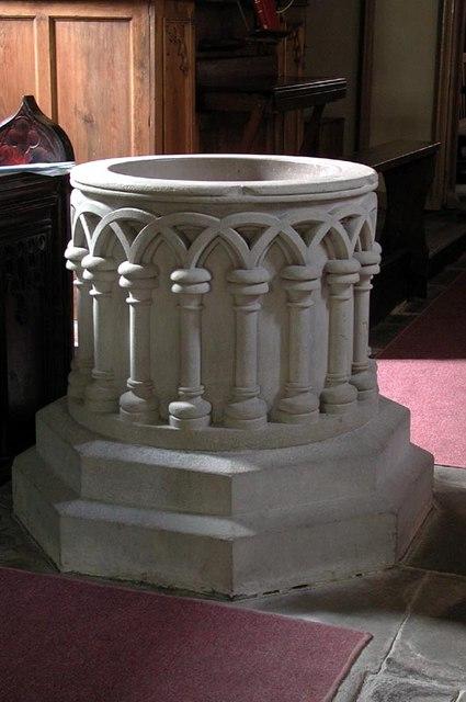 St Peter, Wormbridge, Herefordshire - Font