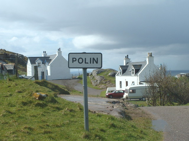 A view of Polin crofting township