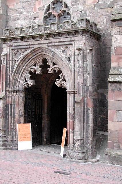 All Saints Church, Hereford - Doorway