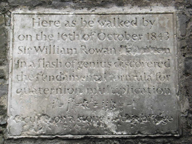 William Rowan Hamilton Plaque