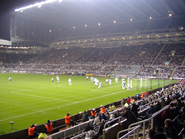 Floodlit match at St James's Park