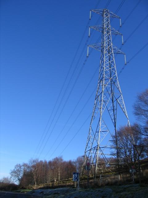 Pylon near Llandegla