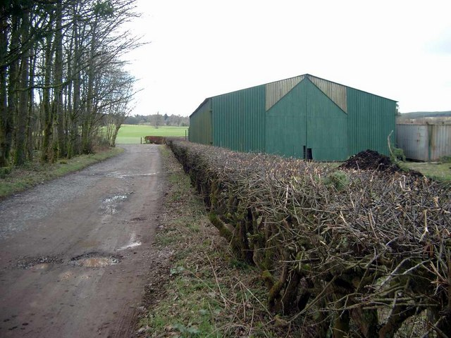 New shed near Braco Castle