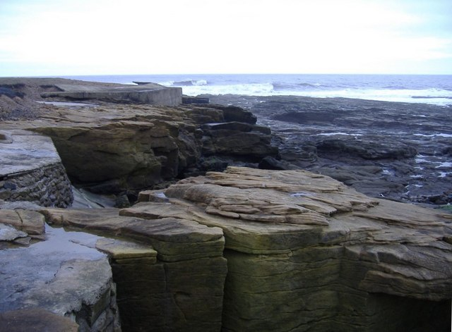 Low cliffs, near Newbiggin Point.