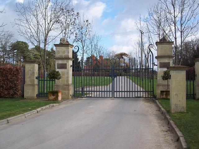 Entrance gates to the Sandley Stud