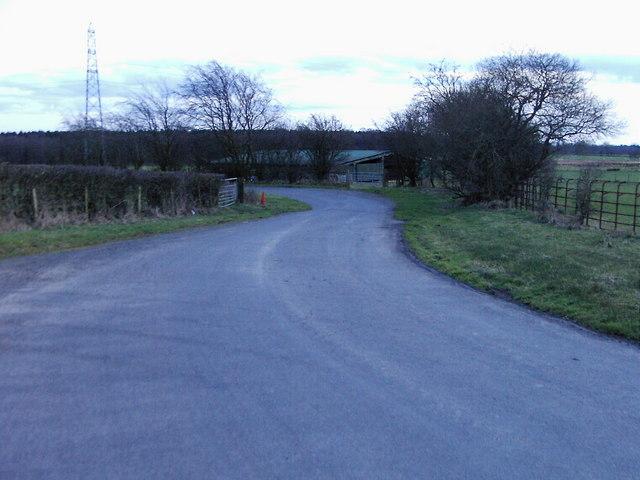 Road between Becks and Campers Corner