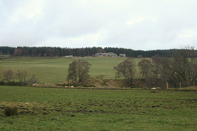 Knockanrioch to the northeast across the fields.