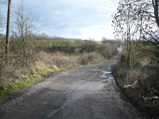 Danesmoor - Pit Lane view towards Railway Bridge