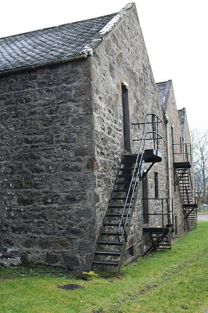 Distillery warehouses at Cardhu.