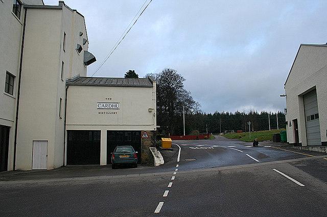 A typically pristine Scottish Distillery.