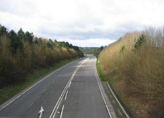 The A36 passing through Eastleigh Wood