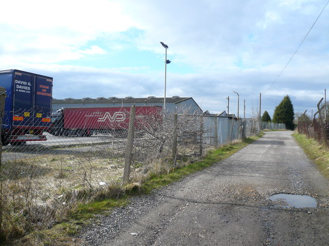 Danesmoor - Pit Lane view towards D S Smith Packaging