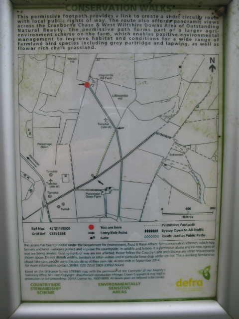 Information panel at HaycombeHill farm