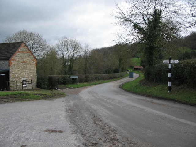 Approaching Horningsham along Cock Road