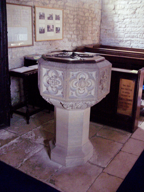 Church of St Mary Magdalene, Fifehead Magdalen - Font