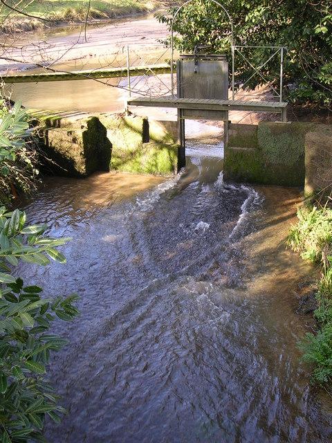 Millpond and sluice, Slip Mill, near Hawkhurst