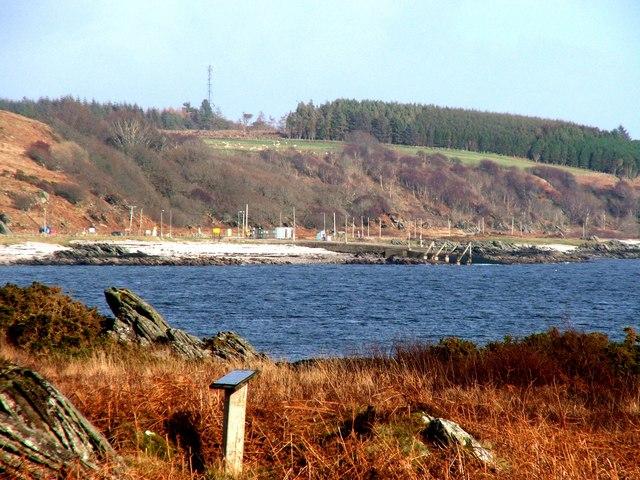 Claonaig Bay and Ferry Slipway.