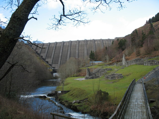 Llyn Clywedog Dam and Lead Mine