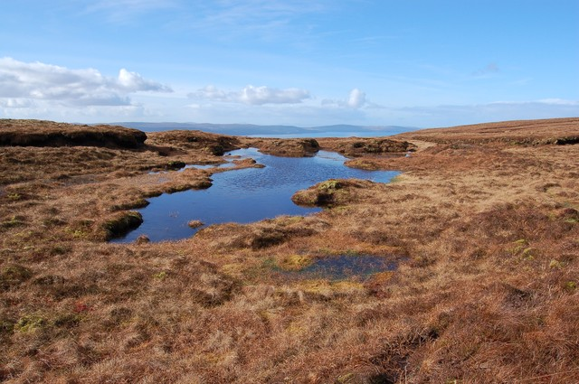 Lochan among the peat hags