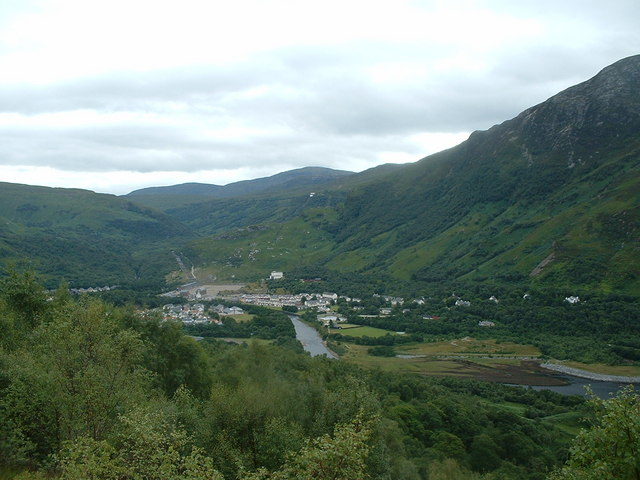Kinlochleven from north side of Loch Leven