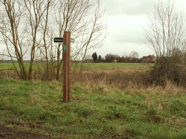 A footpath and bridleway junction at Winston Green