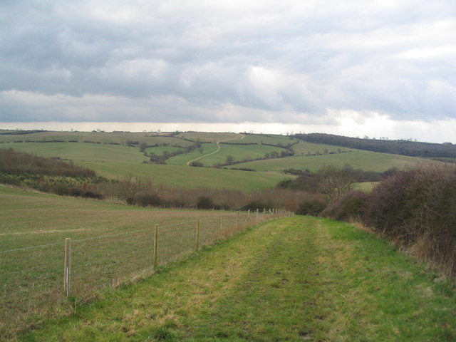 View south across the upper Chater valley