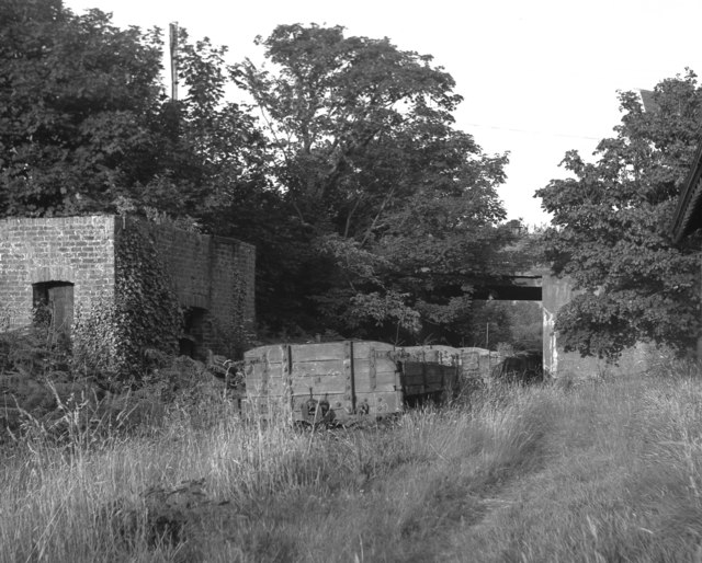 Derelict goods wagons at St Johns