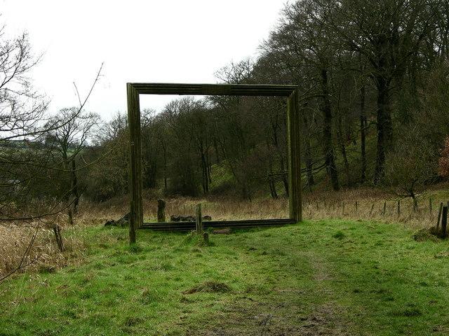 """Frame"" sculpture  near Strongstry"