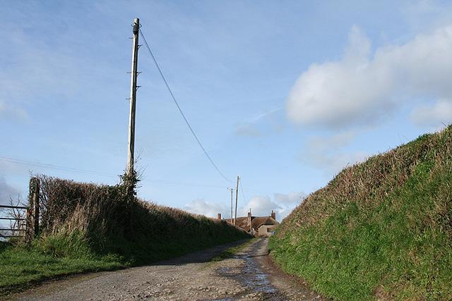 Sandford: track to Bagborough