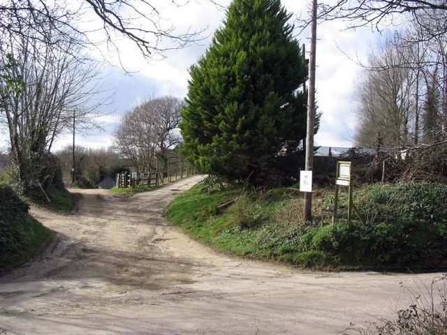 Entrance to Elwell Farms, near Waytown