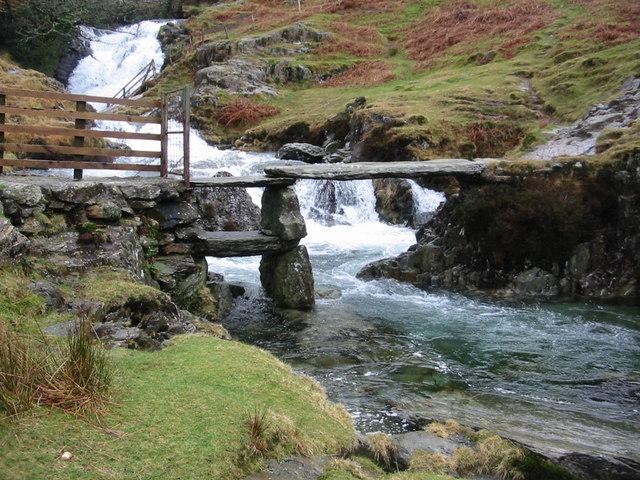Crossing Afon Cwm Llan