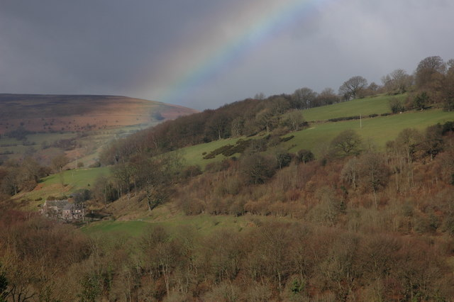 Rainbow over Gaer