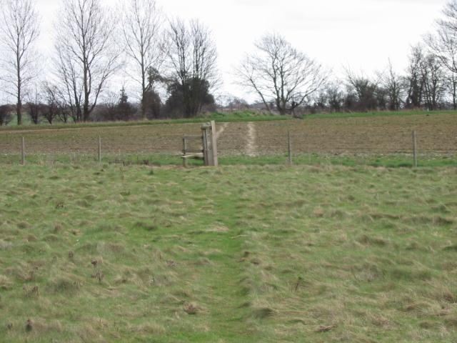 Stile between fields