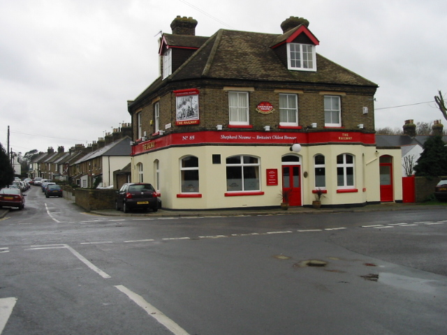 The Railway pub on the corner of Mayers Rd and Station Rd