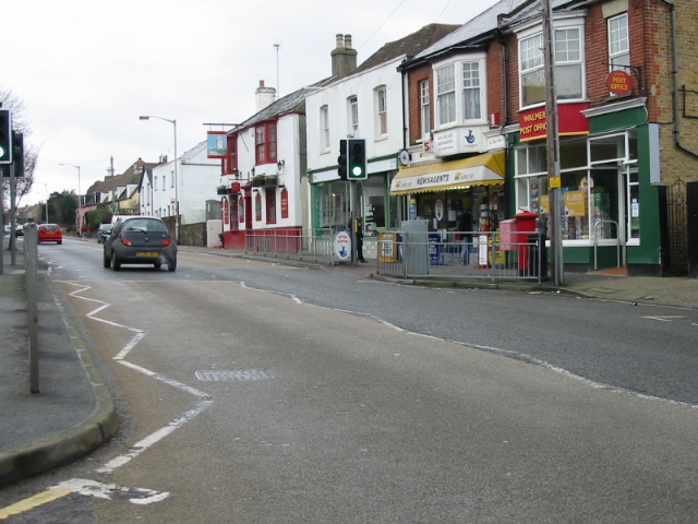 Local shops on Dover Road, Walmer