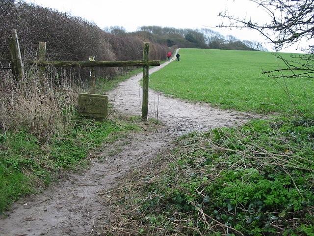 Public footpath to Wood Hill